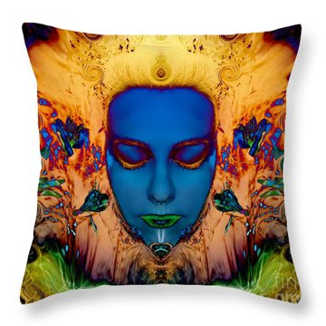 Throw Pillow featuring the photograph Poseidons Maiden by Heather King