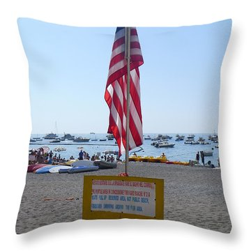 Positano - American Flag  Throw Pillow