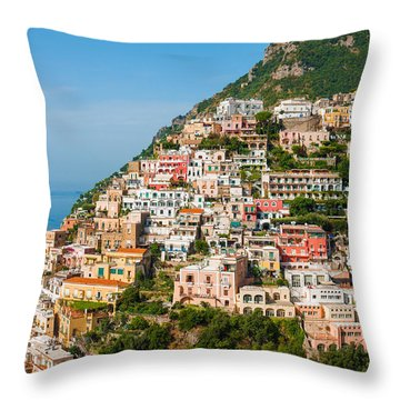 Positano City Throw Pillow