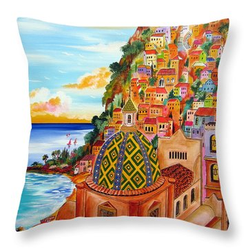 Positano In My Fantasy Throw Pillow