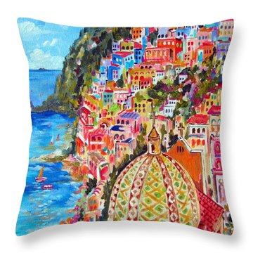 Positano Pearl Of The Amalfi Coast Throw Pillow