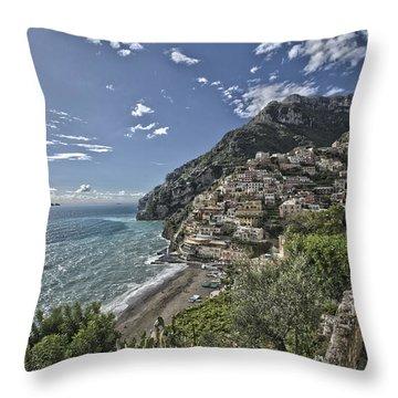 Positano Seascape Throw Pillow