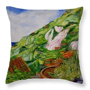 Positano Terrace Throw Pillow