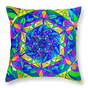 Positive Focus Throw Pillow by Teal Eye  Print Store