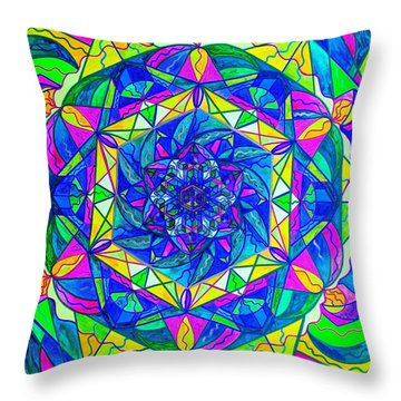 Positive Focus Throw Pillow