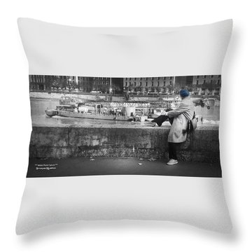 Throw Pillow featuring the photograph Positive Meditation On The River by Stwayne Keubrick