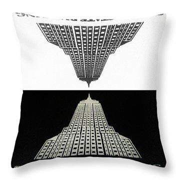 Positive - Negative Throw Pillow
