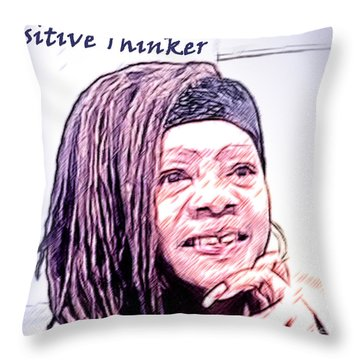 Positive Thinker Pastel Throw Pillow