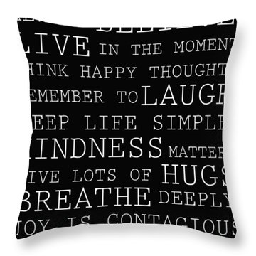 Positive Words Throw Pillow