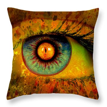 Possessed Throw Pillow by Ally  White