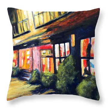 Post Alley Seattle Throw Pillow by Marti Green