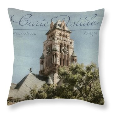 Post Card Throw Pillow