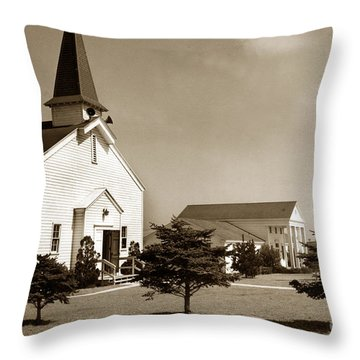 Post Chapel And Red Cross Building Fort Ord Army Base California 1950 Throw Pillow