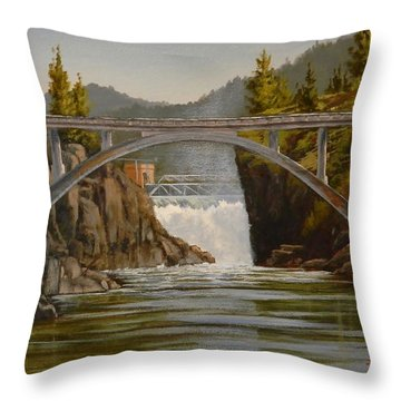 Post Falls Throw Pillow