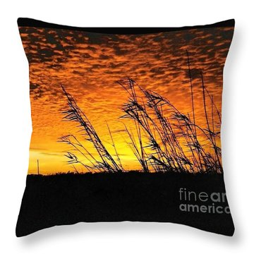 Post Hurricane Rita At Dockside In Beaumont Texas Usa Throw Pillow by Michael Hoard