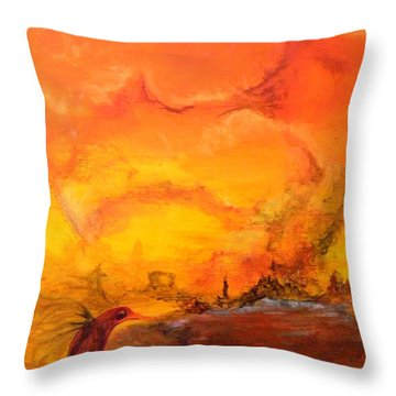Post Nuclear Watering Hole Throw Pillow