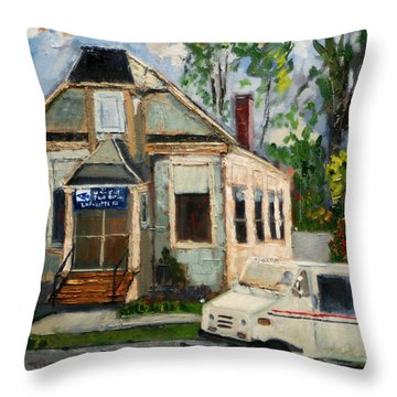 Post Office At Lafeyette Nj Throw Pillow