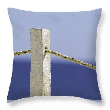 Post On The Beach Throw Pillow