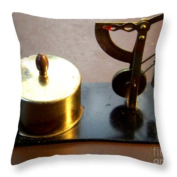 Postage Scales Throw Pillows