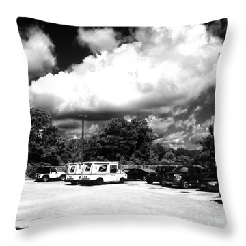 Postal Cloud Throw Pillow