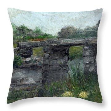 Postbridge Dartmoor Throw Pillow by Carol Rowland
