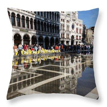 Throw Pillow featuring the photograph Postcard From Venice by Georgia Mizuleva