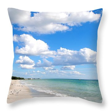 Postcard Perfect Throw Pillow by Margie Amberge