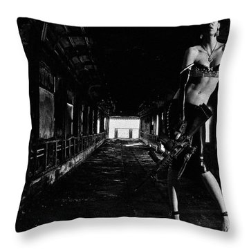 Posted Exacerbation Throw Pillow by Cecil K Brissette
