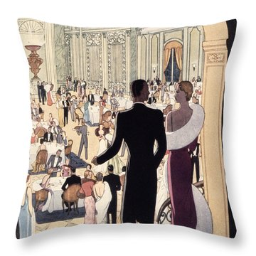 Poster Advertising The Rex Throw Pillow by Italian School