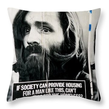 Poster Boy Charlie Throw Pillow