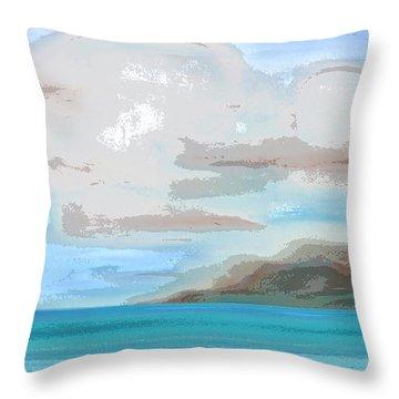 Posterized Landscape Alaska  Throw Pillow
