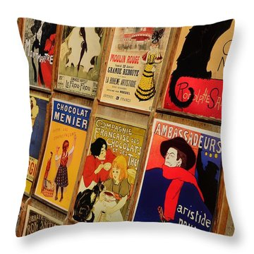 Posters In Paris Throw Pillow by Dany Lison