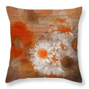Pot Of Daisies 02 - J33027100rgn1c Throw Pillow