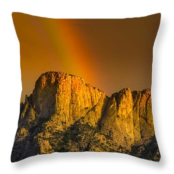 Pot Of Gold Throw Pillow by Mark Myhaver
