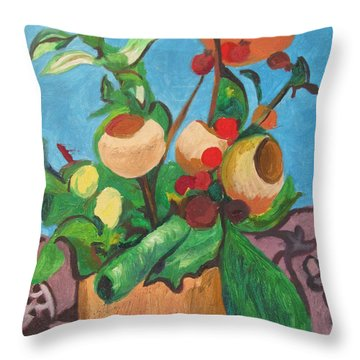 Pot Pourri Throw Pillow by Esther Newman-Cohen