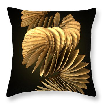 Potato Chip Stack Falling Throw Pillow