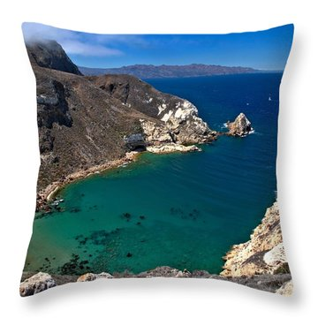 Potato Harbor Views Throw Pillow by Adam Jewell