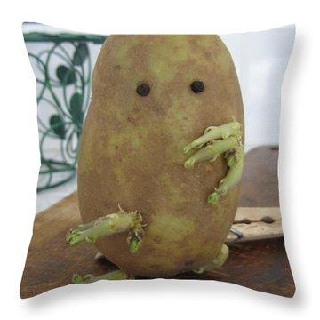 Potato Man Throw Pillow