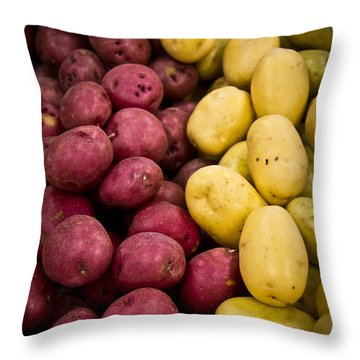 Throw Pillow featuring the photograph Potatoes by Aaron Berg