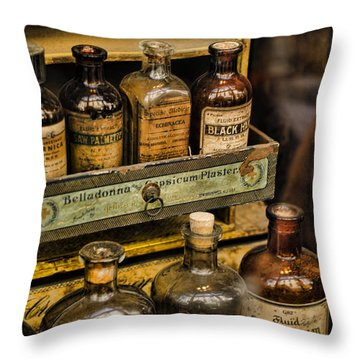 Potions And Cure Alls Throw Pillow