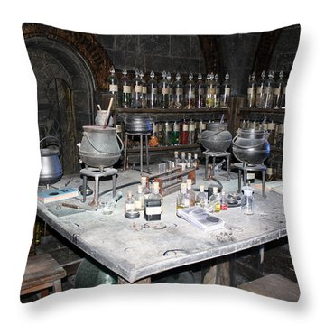 Potions Throw Pillow