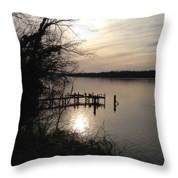 Throw Pillow featuring the photograph Potomac Reflective by Charles Kraus
