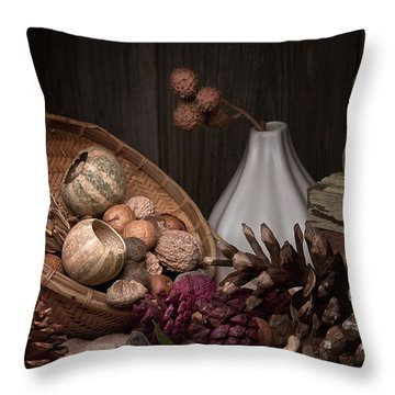 Potpourri Still Life Throw Pillow by Tom Mc Nemar