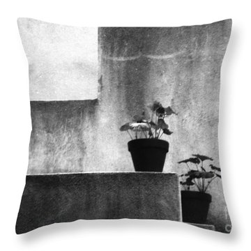 Throw Pillow featuring the photograph Pots by Steven Macanka