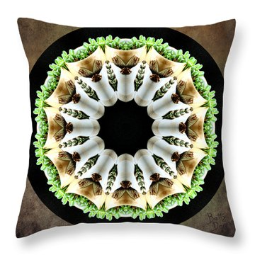 Throw Pillow featuring the photograph Potted Plant Kaleidoscope by Betty Denise