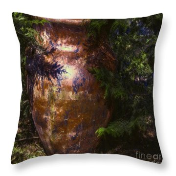 Throw Pillow featuring the photograph Potters Clay by Jean OKeeffe Macro Abundance Art
