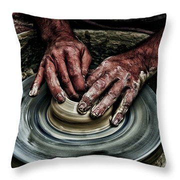 Potters Wheel  Throw Pillow