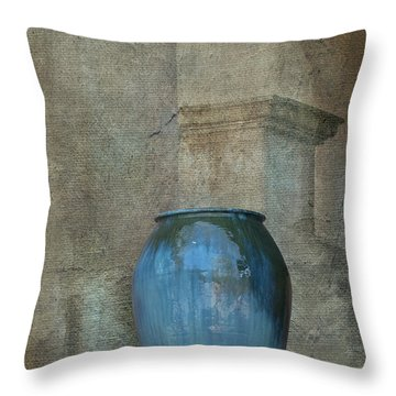 Pottery And Archways II Throw Pillow by Sandra Bronstein