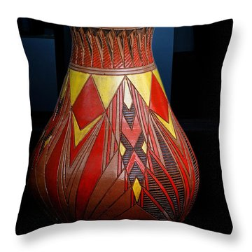 Throw Pillow featuring the photograph Pottery Artistry by Joseph Hollingsworth