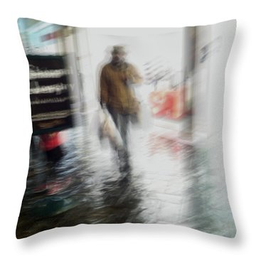 Throw Pillow featuring the photograph Pounding The Pavement by Alex Lapidus